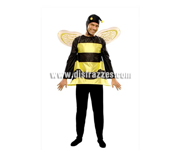 Disfraz barato de Abejorro para hombre. Talla standar M-L = 52/54. Incluye camisa, pantalón, gorro y alas.