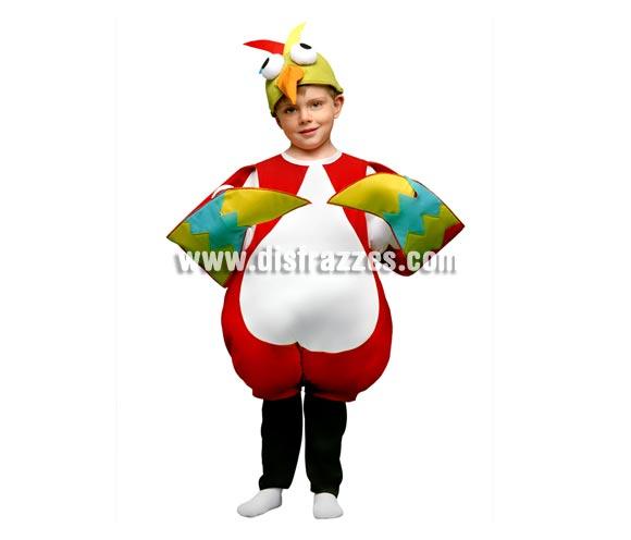 Disfraz de Pájaro Loco para niños de 5 a 6 años. Incluye mono y gorro.