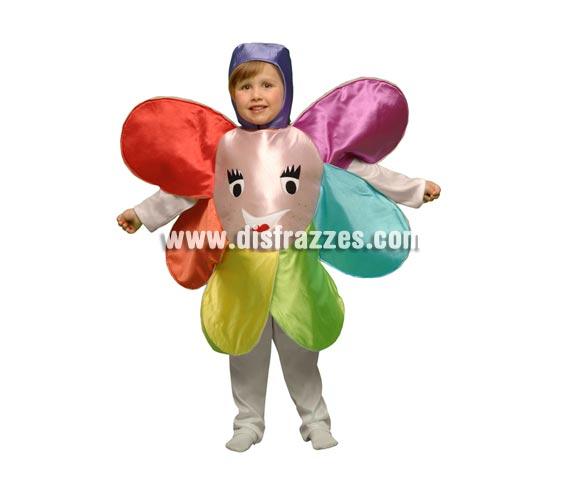 Disfraz de Flor para niños de 1 a 2 años. Incluye disfraz de goma espuma en forma de flor y gorro. Perfecto para hacer teatros en el Cole o en la Guarde para niñas y niños.
