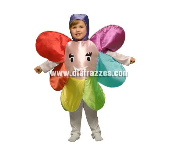 Disfraz de Flor para niños de 3 a 4 años. Incluye disfraz de goma espuma en forma de flor y gorro. Perfecto para hacer teatros en el Cole o en la Guarde para niñas y niños.
