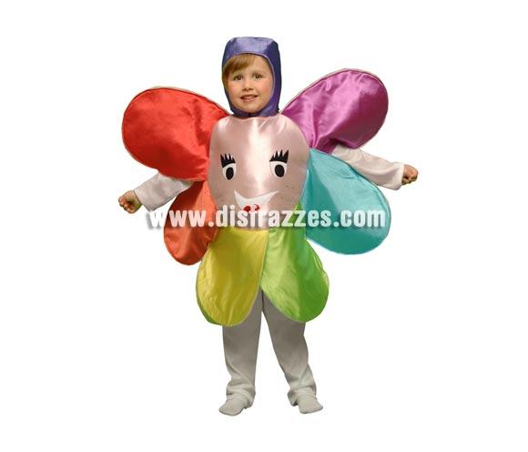 Disfraz de Flor para niños de 5 a 6 años. Incluye disfraz de goma espuma en forma de flor y gorro. Perfecto para hacer teatros en el Cole o en la Guarde para niñas y niños.