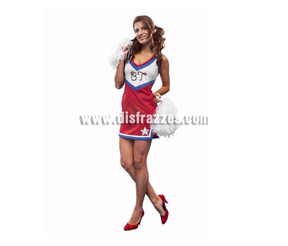 Disfraz de Animadora para mujer. Talla standar M-L = 38/42. Incluye sólo el vestido. Pompones NO incluidos, podrás verlos en la sección de Complementos.