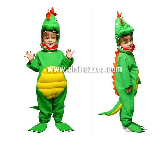 Disfraz de Lagarto para niños de 5 a 6 años. También disfraz de Dinosaurio niños. Incluye mono y gorro.