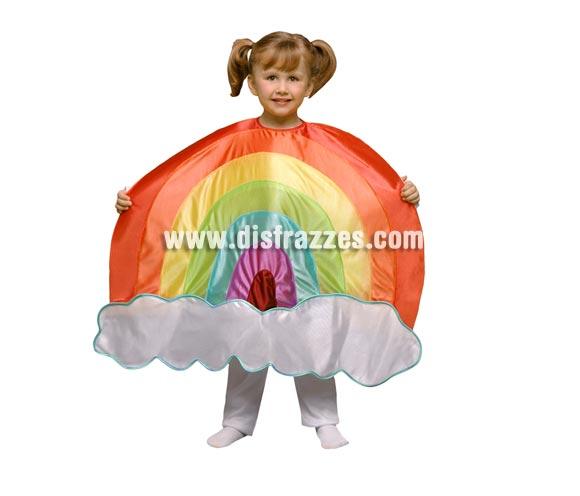 Disfraz de Arco Iris para niños de 1 a 2 años. Incluye sólo el disfraz de Arco Iris en tela de goma espuma. Perfecto para teatros de colegios y guarderías.