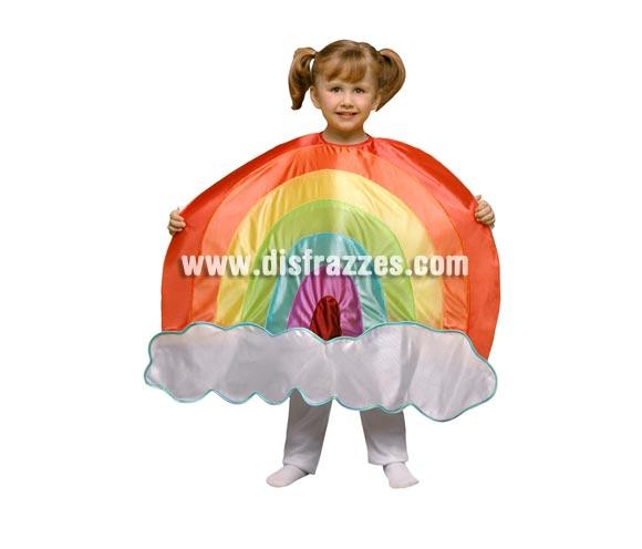 Disfraz de Arco Iris para niños de 3 a 4 años. Incluye sólo el disfraz de Arco Iris en tela de goma espuma. Perfecto para teatros de colegios y guarderías.