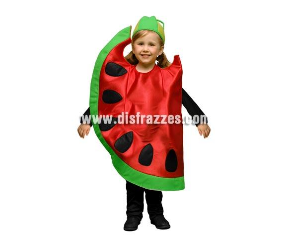 Disfraz de Sandía para niños de 5 a 6 años. Incluye disfraz en forma de sandía y gorro.
