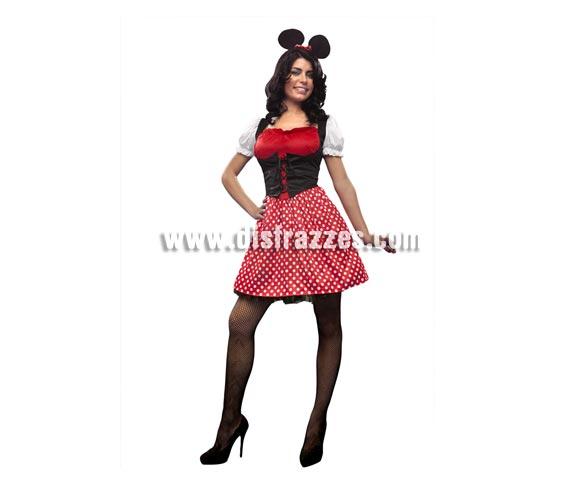 Disfraz de Ratoncita para mujer. Talla standar M-L = 38/42. Incluye vestido y tocado.