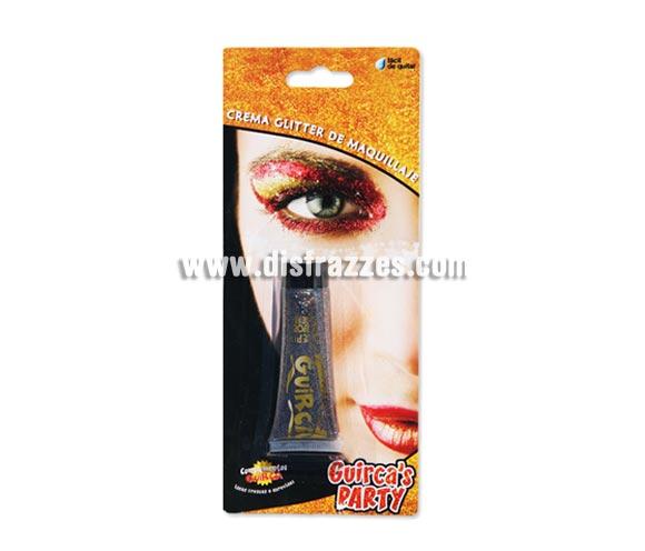Tubo de 20 ml. de maquillaje multicolor glitter - brillo. Presentación en blister.