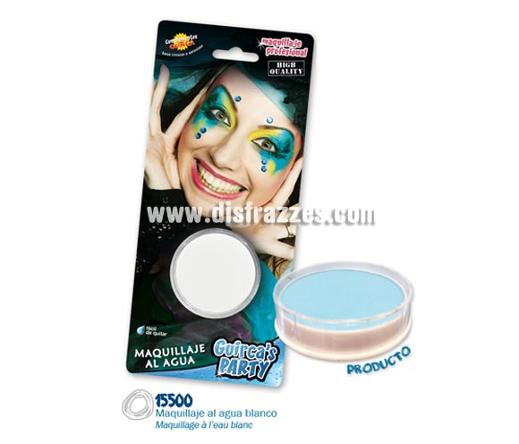 Blister de maquillaje al agua de 16 gr de color blanco.