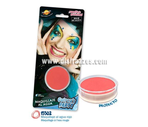 Blister de maquillaje al agua de 16 gr de color rojo.