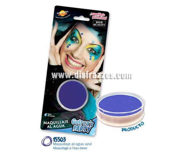 Blister de maquillaje al agua de 16 gr de color azul.