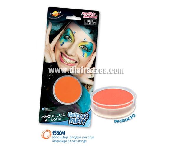 Blister de maquillaje al agua de 16 gr de color naranja.