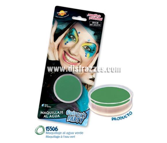 Blister de maquillaje al agua de 16 gr de color verde.