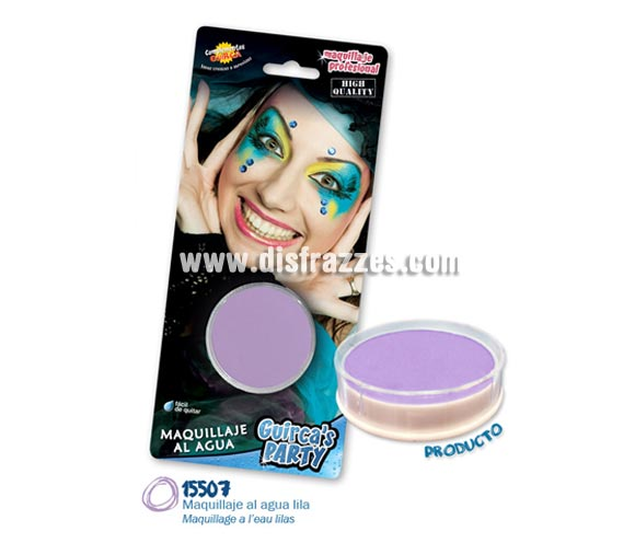 Blister de maquillaje al agua de 16 gr de color lila.