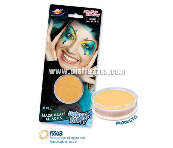 Blister de maquillaje al agua de 16 gr de color oro.