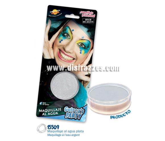 Blister de maquillaje al agua de 16 gr de color plata.