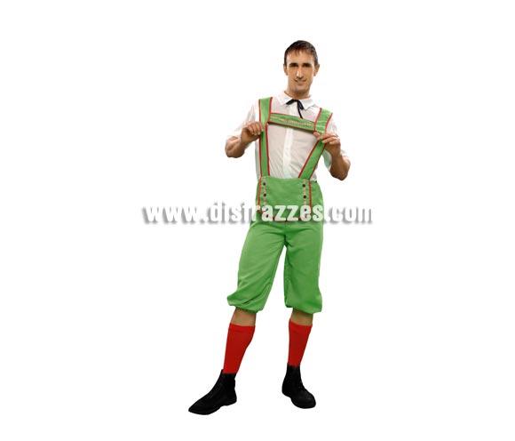 Disfraz de Tirolés para hombre. Talla standar M-L = 52/54. Incluye camisa y pantalón.