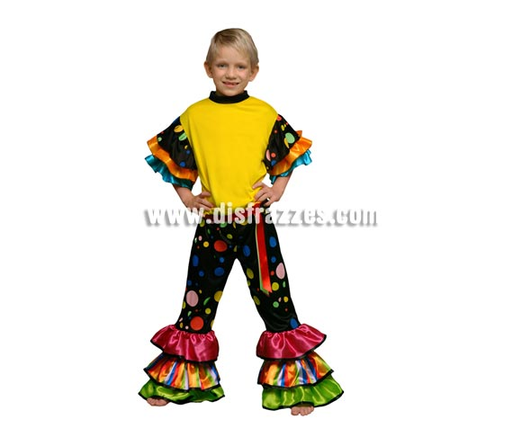 Disfraz de Salsa para niños de 7 a 9 años. Incluye camisa y pantalón. Disfraz de Brasileño, Caribeño o Rumbero para niños.