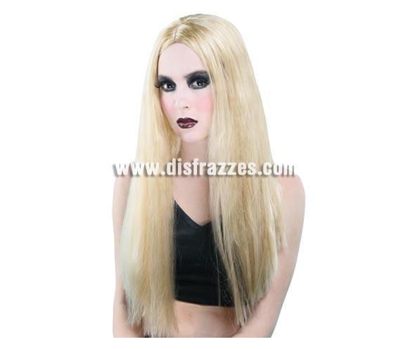 Peluca larga rubia que sirve para Carnaval, para Halloween e incluso para Navidad para disfraz de Angel.