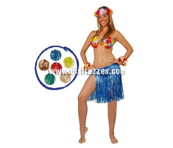 Falda Hawaiana 45 cm. en colores variados. Precio por unidad. Incluye sólo la falda.