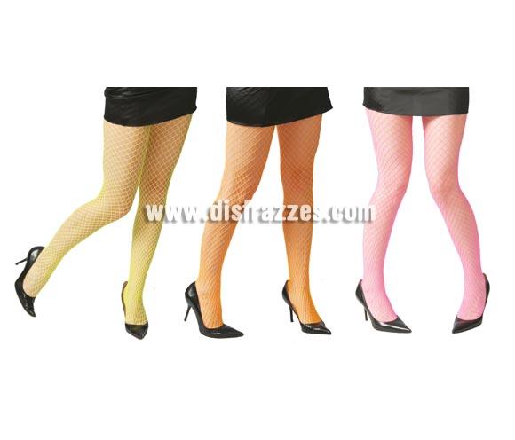 Pantys malla grande colores surtidos para mujer. Perfectos para disfraces de Bruja. Talla universal de mujer. Precio por unidad, se venden por separado.