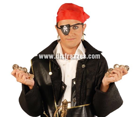 Blister de 12 monedas Piratas. Perfecto como complemento si tienes pensado disfrazarte de Pirata.