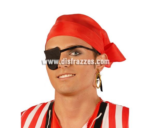 Conjunto Pirata. Compuesto por pañuelo de tela de plastico y parche de plastico.