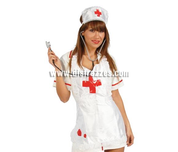 Conjunto Enfermera. Incluye cofia, delantal y estetoscopio. Perfecto para Despedidas de Soltera.