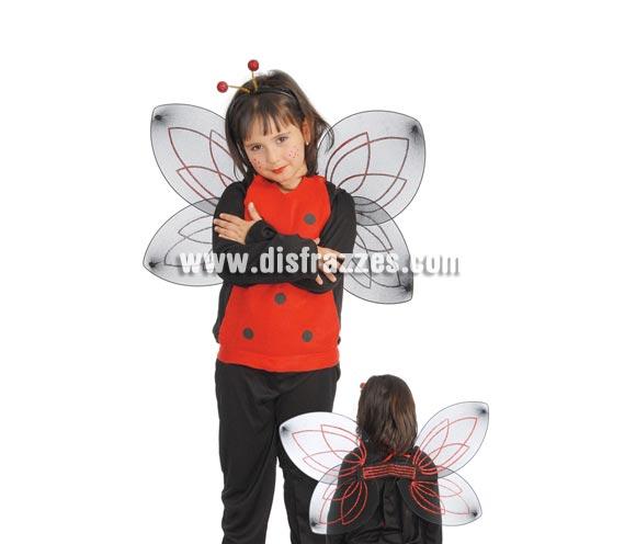 Conjunto Mariquita 48 cm. Incluye diadema, peto y alas.