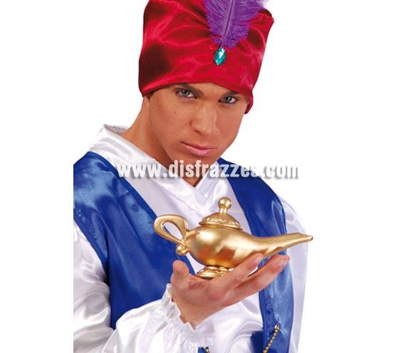 Lámpara Mágica del Genio de Aladino, 22 cms. Material plástico.