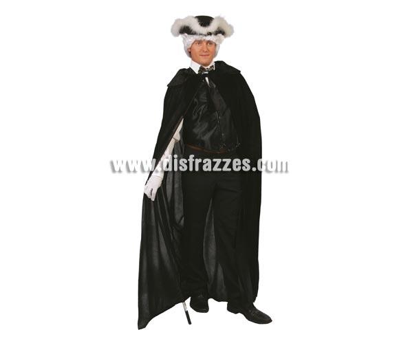 Capa de terciopelo Extra 145 cm. Perfecta para disfraz de Veneciano o Veneciana.