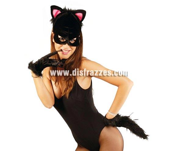 Cola negra de gato 50 cm. El precio incluye sólo la cola.