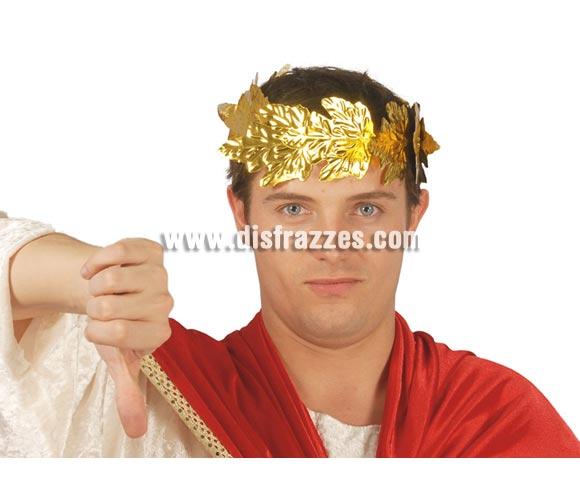 Corona del Emperador César de laurel plástico.