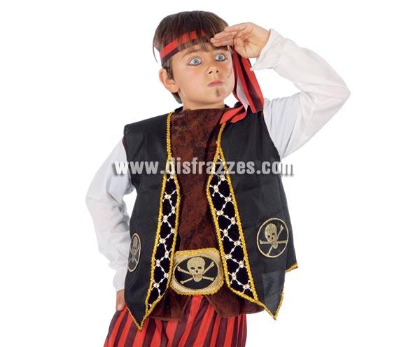 Chaleco y cinturón de Pirata infantil. Incluye sólo el chaleco y el cinturón.