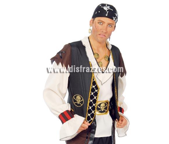 Chaleco y cinturón de Pirata adulto. Incluye sólo el chaleco y el cinturón.