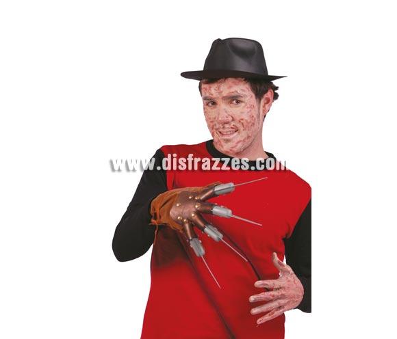 Mano de Freddy cuchillas de plástico para Halloween.