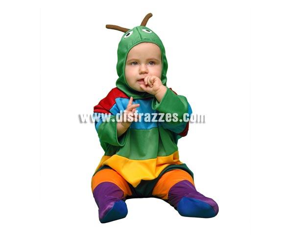 Disfraz super barato de Gusanito para bebés de 6 a 12 meses. Incluye mono y gorro.