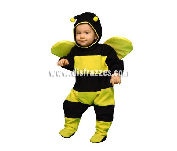 Disfraz super barato de Abejita o Abeja para bebés de 6 a 12 meses. Incluye mono, gorro y alas.