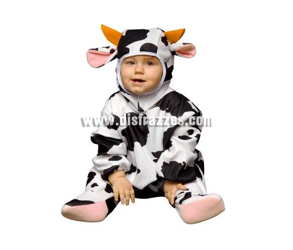 Disfraz super barato de Vaquita para bebés de 6 a 12 meses. Incluye mono y gorro.