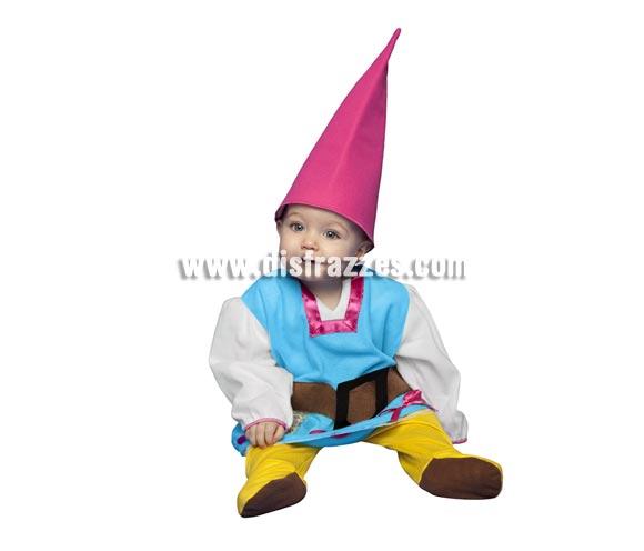 Disfraz de Gnoma para bebés de 6 a 12 meses. Incluye mono y gorro. También sirve como disfraz de Enanita, Duende o Elfa para bebés y es perfecto para acompañar a Papa Noel en Navidad.