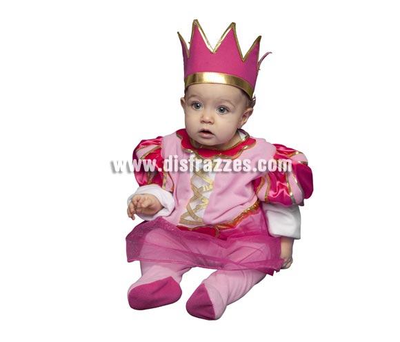 Disfraz muy barato de Princesa Rosa para bebés de 6 a 12 meses. Incluye mono y tocado.