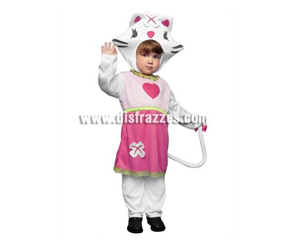 Disfraz de Sweety Catty para niñas de 1 a 2 años. Incluye camisa, pantalón y gorro. Disfraz de dulce Gatita para niñas que irán encantadas con éste traje y se imaginarán que son Hello Kitty.
