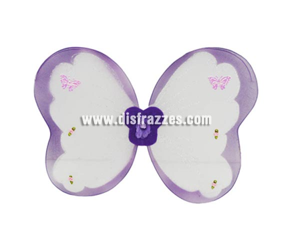 Alas de Mariposa infantiles moradas 32 cm.