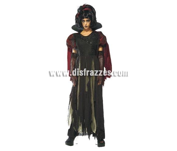 Disfraz de Blancanieves Maldita adulta para Halloween. Talla estándar. Incluye vestido con capa y manguitos.
