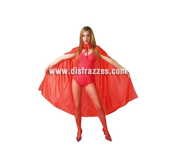Capa de tela roja 110 cm. Perfecta como complemento de disfraz de Diablesa en Halloween.