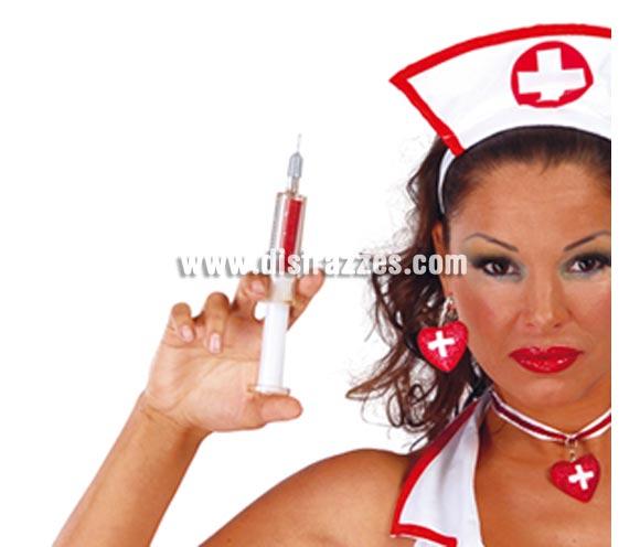 Jeringuilla bolígrafo 15 cm. el complemento perfecto para el disfraz de Enfermera o Médico.