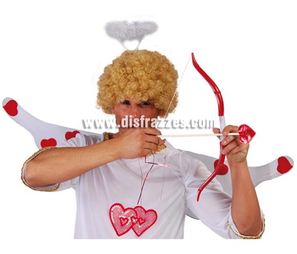 Arco de Cupido con una flecha con punta de corazón. Perfecto para disfrazar al Novio en una Despedida de Soltero de Cupido con todos los extras.