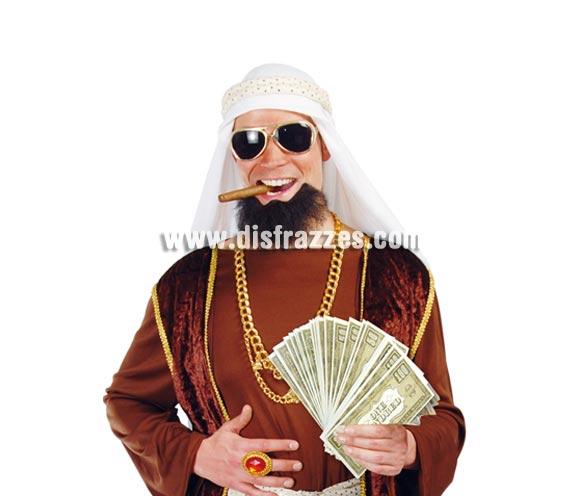 Bolsa con 75 billetes. ¡¡¡Ésto sí que son Petrodólares!!! Perfectos como complemento del disfraz de Jeque Árabe o Magnate del petróleo.