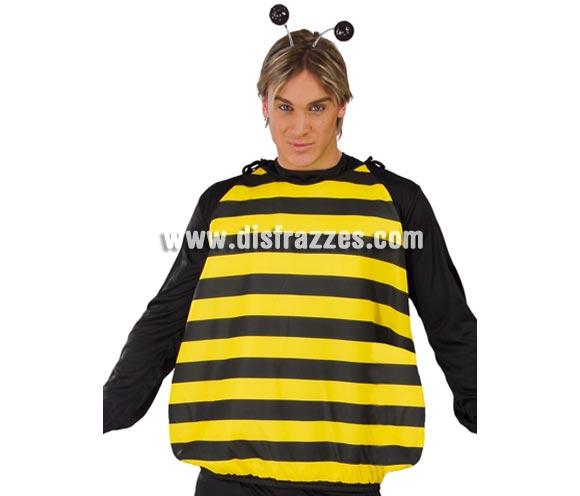 Disfraz o cuerpo de Abeja adulto. Talla Universal adultos. Incluye sólo el cuerpo con alas y aguijón en el culete.