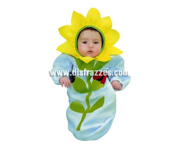 Disfraz super barato de Flor para bebés de 0 a 6 meses. Incluye saquito y gorro.